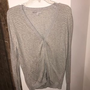 Silver and gold striped cardigan